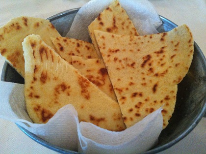 Italian flatbread with extra virgin olive oil and lemon zest (Piadina Romagnola lard-free)